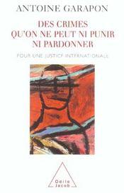 Des Crimes Qu'On Ne Peut Ni Punir Ni Pardonner - Intérieur - Format classique