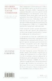 Des Crimes Qu'On Ne Peut Ni Punir Ni Pardonner - 4ème de couverture - Format classique