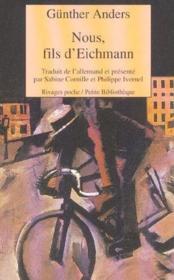 Nous, Fils D'Eichmann - Couverture - Format classique