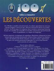 100 Infos A Connaitre ; Les Découvertes - 4ème de couverture - Format classique