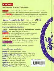 Sciences Lycee - 4ème de couverture - Format classique