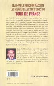 Jean-paul brouchon raconte les plus belles histoires du tour de france - 4ème de couverture - Format classique