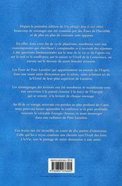 Une Plongee Dans Le Reel ; Recueil De Messages - 4ème de couverture - Format classique