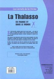 La thalasso en France et dans le monde ; guide des centres - 4ème de couverture - Format classique