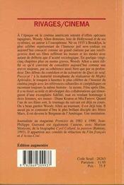 Woody allen - 4ème de couverture - Format classique