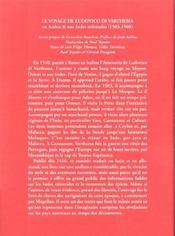 Voyage De Ludovico Di Varthema En Arabie Et Aux Indes Orientales (1503-1508) - 4ème de couverture - Format classique