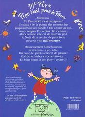 Mr Pipo Pere Noel Pour De Faux - 4ème de couverture - Format classique