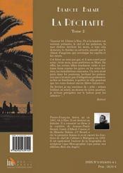 La récitante t.2 ; les allées de paille - 4ème de couverture - Format classique
