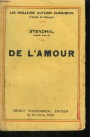 De L'Amour. - Couverture - Format classique