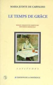 Le Temps De Grace - Couverture - Format classique