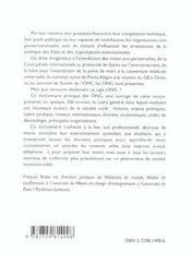 Dictionnaire Pratique Des Organisations Non Gouvernementales - 4ème de couverture - Format classique
