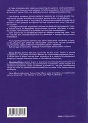 Code Commente De L'Union Europeenne - 4ème de couverture - Format classique