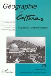 Revue Geographie Et Cultures T.35 - Intérieur - Format classique