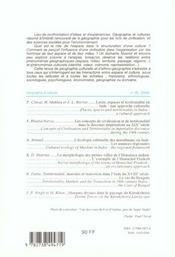 Revue Geographie Et Cultures T.35 - 4ème de couverture - Format classique