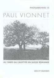 Paul Vionnet - Au Temps Du Calotype En Suisse Romande - Intérieur - Format classique