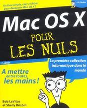MAC OS X pour les nuls. - Intérieur - Format classique