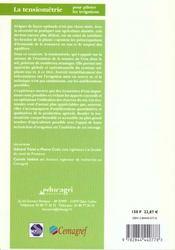 La tensiometrie pour piloter les irrigations ou une gestion raisonneee de la ressource en eau - 4ème de couverture - Format classique