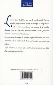 Mademoiselle fine - 4ème de couverture - Format classique
