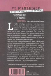 L'Eglise Catholique Et La Pedophilie - 4ème de couverture - Format classique