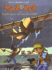 Max et Zoé t.5 ; le plus gros avion du monde - Intérieur - Format classique