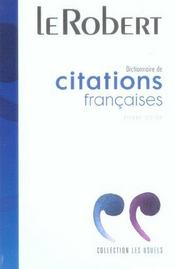 Vente livre :  Dict De Citations Francaises  - Collectif