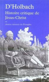 Histoire critique de jesus-christ - Intérieur - Format classique