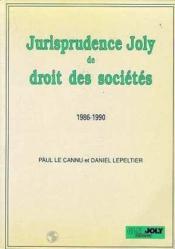 Jurisp.Joly Dt Stes 1986-1990 - Couverture - Format classique
