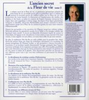 L'ancien secret de la fleur de vie t.2 - 4ème de couverture - Format classique