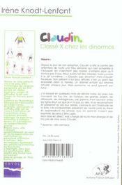 Claudin, classé X chez les dinormos - 4ème de couverture - Format classique