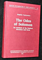 The Odes Of Solomon, An Analysis Of The Poetical Structure And Form - Couverture - Format classique