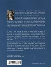 Ricoeur ; herméneutique et traduction - 4ème de couverture - Format classique