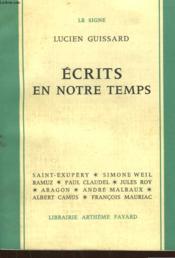 Ecrits En Notre Temps. - Couverture - Format classique
