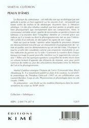 Peaux d'ames ; l'interprétation physionomique des oeuvres d'art - 4ème de couverture - Format classique