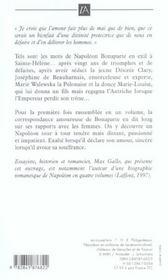 Lettres d'amour a desiree, josephine, marie et marie-louise - 4ème de couverture - Format classique