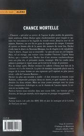 Chance Mortelle - 4ème de couverture - Format classique