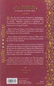 La Bible A Raconter Au Fil Des Fetes - 4ème de couverture - Format classique