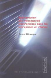 Appropriation Des Messageries Electroniques Dans Les Entreprises En R Eseau - Intérieur - Format classique