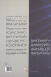 Appropriation Des Messageries Electroniques Dans Les Entreprises En R Eseau - 4ème de couverture - Format classique