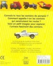 Les camions - 4ème de couverture - Format classique