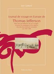 Journal de voyage en europe de thomas jefferson - Intérieur - Format classique