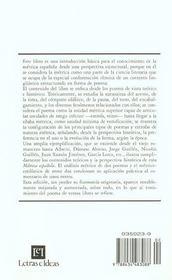 Metrica espanola - 4ème de couverture - Format classique