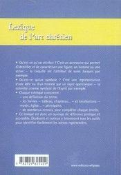 Lexique de l'art chrétien ; attributs et symboles - 4ème de couverture - Format classique