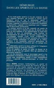 Demiurgie Dans Les Sports Et La Danse - 4ème de couverture - Format classique