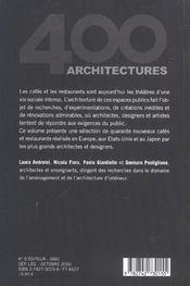 Cafés et restaurants 1990-2000 ; 400 architectures - 4ème de couverture - Format classique
