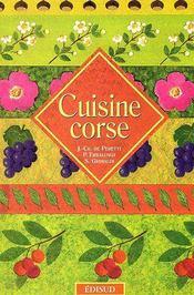 Cuisine corse - Couverture - Format classique