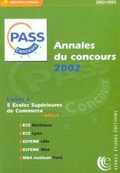 Annales Du Concours ; Pass Concours - Intérieur - Format classique