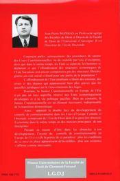 Justice constitutionnelle et transition démocratique en Europe de l'est - 4ème de couverture - Format classique