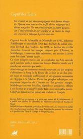 Captif des tatars - 4ème de couverture - Format classique