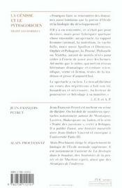 Traité des formes t.1 ; la génisse et le pythagoricien - 4ème de couverture - Format classique