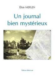 Un journal bien mystérieux - Couverture - Format classique